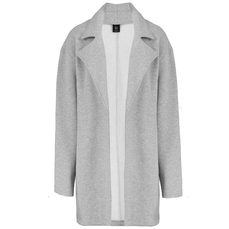 Mantel aus Sweat mit Reverskragen