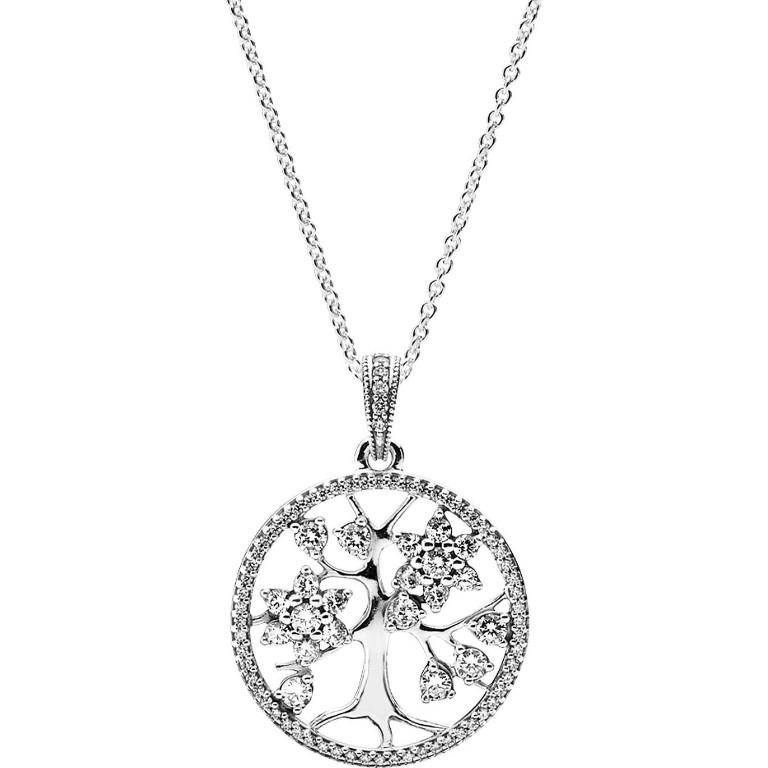 Pandora Family Tree Necklace (390384CZ-80)