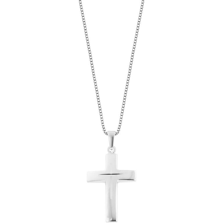 Trendor Silber-Herrenkette mit Kreuz (83624)