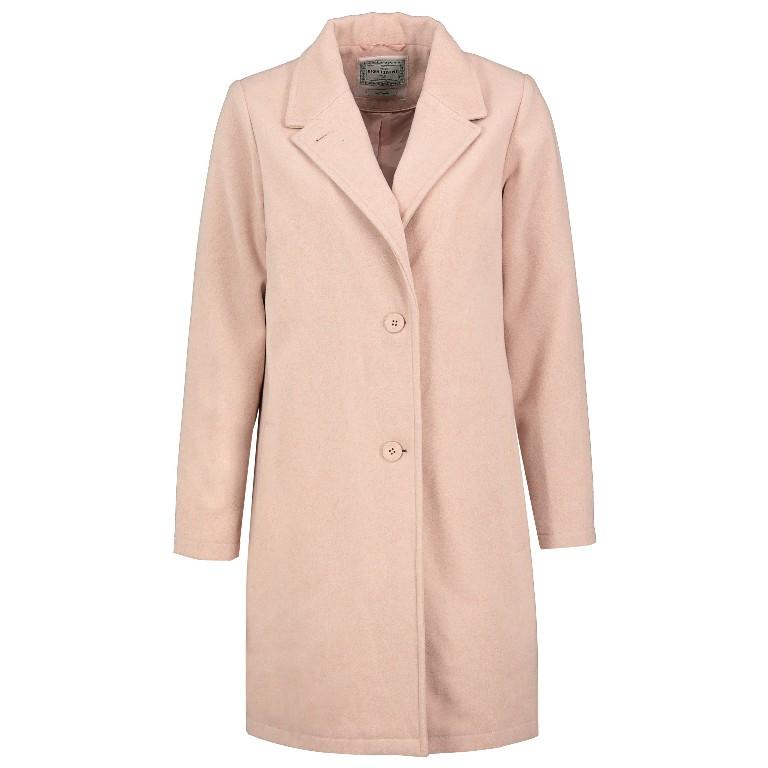 Mantel aus Wollmischung in Rosa