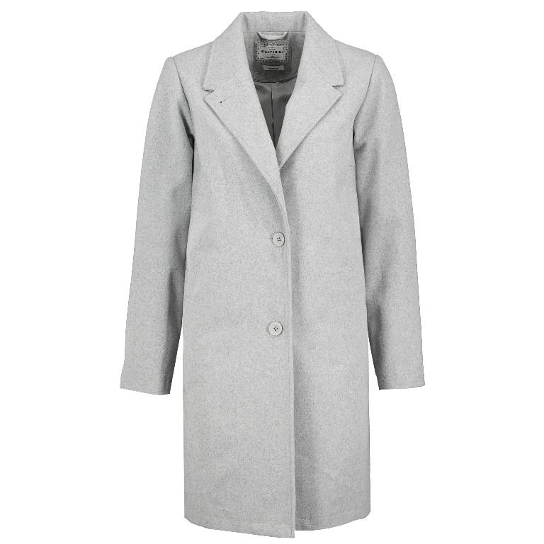 Mantel aus Wollmischung in Grau